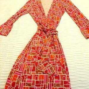 Authentic Diane Von Furstenberg wrap dress